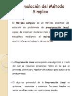 Formulación Del Método Simplex