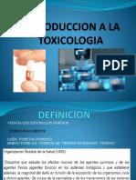 Introduccion a La Toxicologia