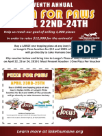 Pizza for Paws Flyer