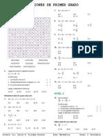 ECUACIONES LINEALES - 1° SEC..pdf