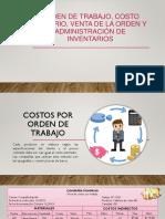 Orden de Trabajo, Costo Unitario, Venta de La Orden y Administración de Inventarios