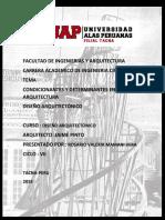 FACULTAD DE INGENIERIAS Y ARQUITECTURA tarea diseño arquitectonico lo mas importante.docx