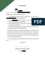 Modelo de Carta Notarial Requiriendo Pago