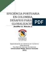 EFICIENCIA PORTUARIA EN COLOMBIA, DESAFIOS PARA LA GLOBALIZACIÓN.pdf