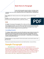 The Basic Parts of a Paragraph.doc