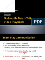 2No Huddle Teach Talk