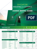 Singapore Industrial Asking Rental Guide (2018.07)