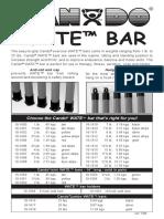 Cando Wate Bar Brochure User Manual
