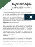 EDUCAÇÃO ESPECIAL_ Autismo No Ensino Fundamental II Da Escola Estadual de Ensino Fundamental e Médio Casimiro de Abreu - Brasil Escola