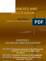 VACANCIES AND SUCCESSION