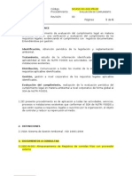 02_procedimiento de Evaluacion Del Cumplimiento Legal y Otros