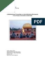 Auroville - A Multinational Township as a Revitalization Movement