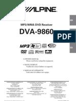 Alpine DVA 9860 Manual