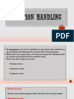 Exception Handling - Mod 4 - Alantina