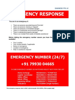 Emergency Response Numbers