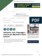 Software, tool, linguaggi e risorse per Big Data e Data Science - Big Data 4Innovation.pdf