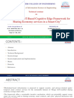 Blockchain and IoT based cognitive edge framework for smart city economy services
