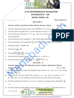 Inter II Year Maths- IIB Question Paper -III