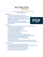 MSc Interaction Design - Final FAQ