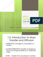 Chapt 1. Intro to Mass Transfer