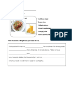 Workheet Healthy Dinner Menu (1)