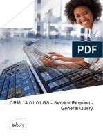 CRM.14.01.01 BS - Service Request - General Query