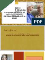 1. Proceso de Envejecimiento Individual, Consumo de Recursos Destinados a La Salud