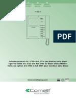 Manuale Tecnico Schede Opzionali Art.5733 5734 2ed IT en FR