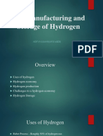 The Manufacturing and Storage of Hydrogen (23!03!2019)