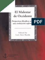 Sáez Rueda, L. (ed.), El malestar de Occidente. Perspectivas filosóficas sobre una civilización enferma