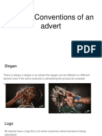 Codes&Conventions of an Advert