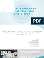 India's Response to 2008 Global Financial Crisis