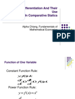 Rules of Differentiation and Their Use in Comparative Statics - Alpha Chiang