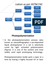 AM Classification as Per ASTM F42