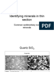 Identifying Minerals in Sedimentary Rocks