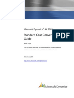 Standard Cost Conversion Guide