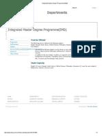 Integrated Master Degree Programme(IMD)1