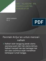 Perintah Al-Qur'an Untuk Mencari Nafkah