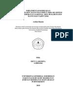 IMPLEMENTASI KEBIJAKAN  INTEGRASI KARTU BANYUMAS SEHAT (KBS) KE SISTEM JAMINAN KESEHATAN NASIONAL (JKN) DI KABUPATEN BANYUMAS TAHUN 2018