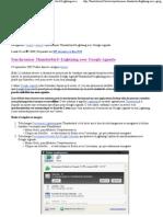 Synchroniser Thunderbird+Lightning Avec Google Agenda