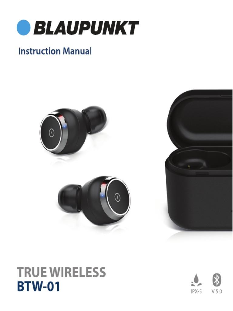 Blaupunkt true wireless manual
