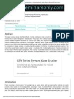 Design and Fabrication of Crusher Machi..