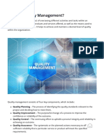 Quality Management - Understanding How Quality Management Works