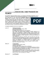 Sala Lugones - Grandes Clásicos Del Cine Francés 2019