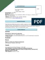 Curriculum Septiembre 2014