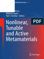 (Springer Series in Materials Science 200) Ilya V. Shadrivov, Mikhail Lapine, Yuri S. Kivshar (eds.)-Nonlinear, Tunable and Active Metamaterials-Springer International Publishing (2015).pdf