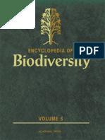 Encyclopedia of Biodiversity - Vol. 5