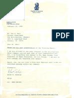 Ritz Carlton CEO Letter of Appreciation for Jon Sutz