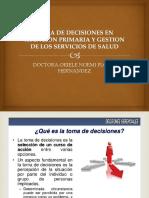 Toma Dedecisiones en Atencion Primaria y Gestion De