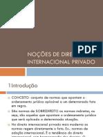 Nocões de Direito Internacional Privado